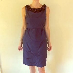 Cocktail dress Black and Navy silk -showstopper!